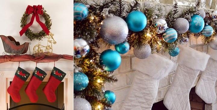Decoraci n de chimeneas para la navidad sencillo y elegante - Hacer decoracion navidena ...
