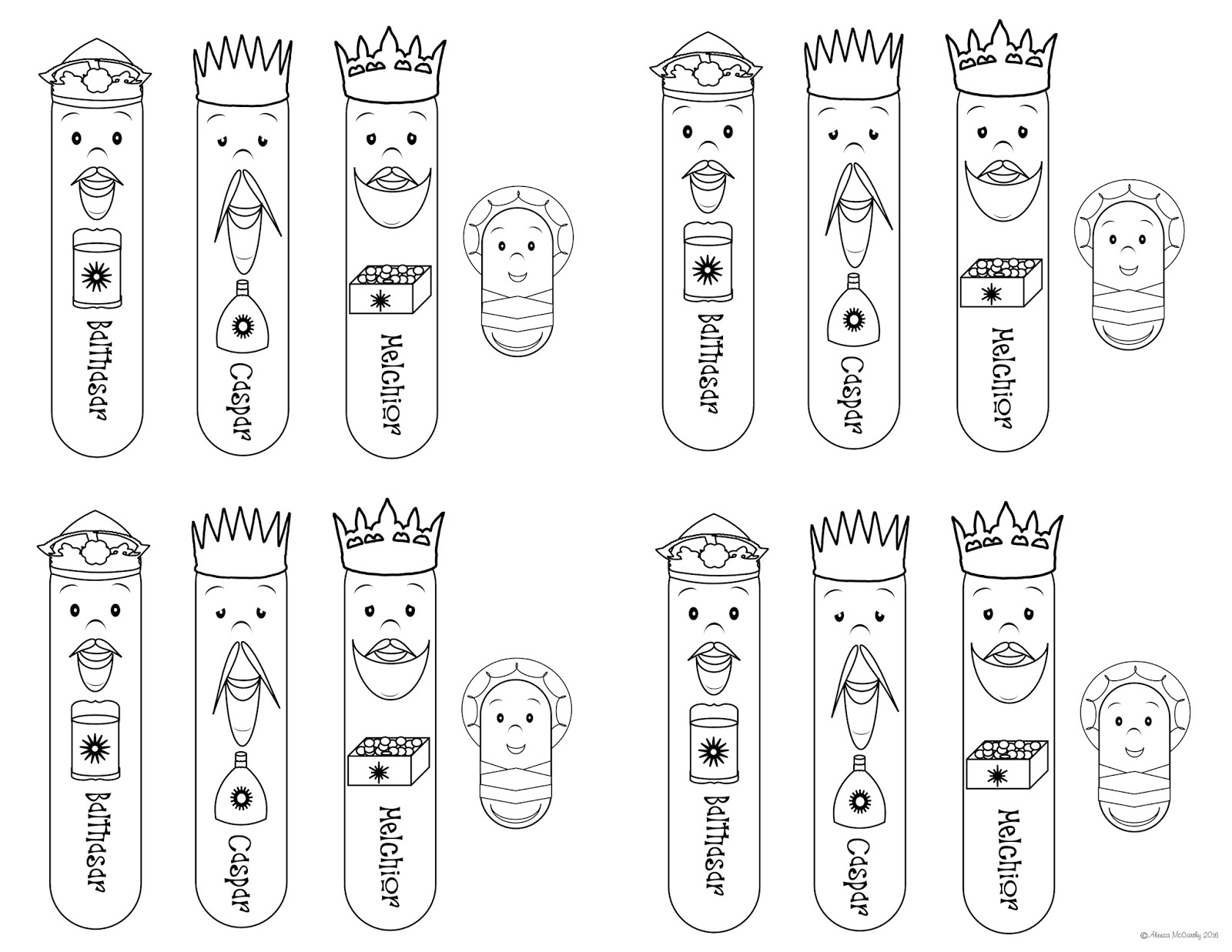 Free coloring pages epiphany - There Are 4 Sets To The Page So If You Have A Bunch Of Little Ones You Can Make Multiple Sets