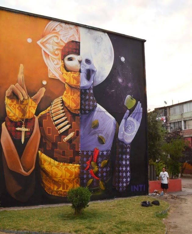 The Best Examples Of Street Art In 2012 And 2013 - By INT, Santiago, Chile