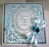 Wedding Card with Spellbinders Botanical Swirls and Floral Ovals