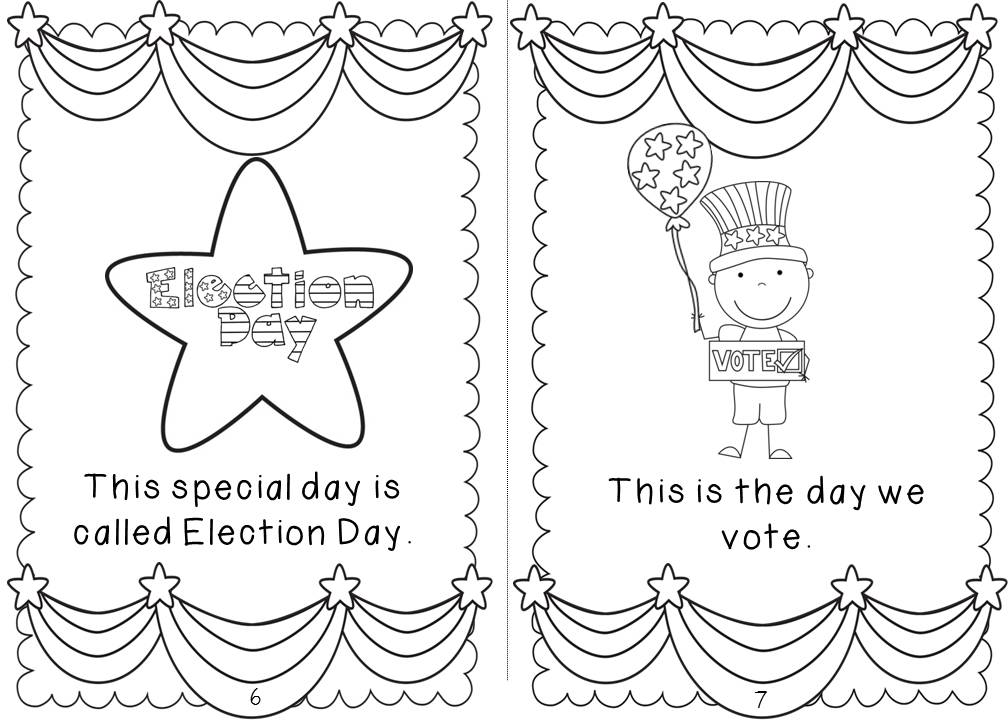 Classroom theme election day just b cause for Assignment first page decoration