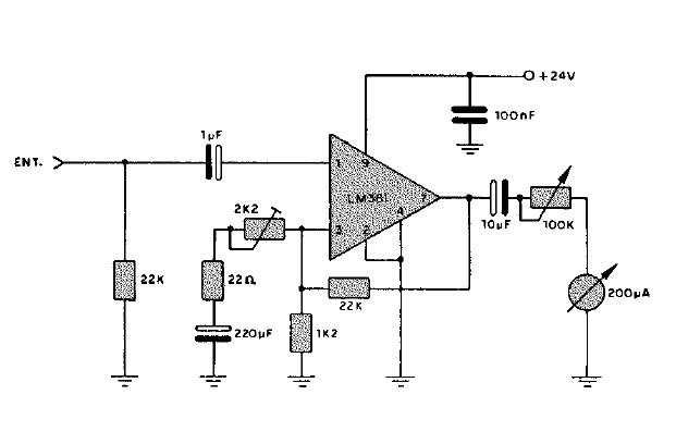circuito vumetro con microfono  v u00fametro con transistores
