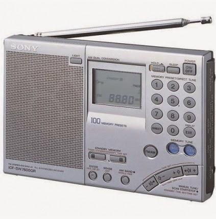 Качественный цифровой всеволновый приемник SONY ICF-SW7600GR небольшого размера с таймером и стереоприемом на 100 фиксированных станциях