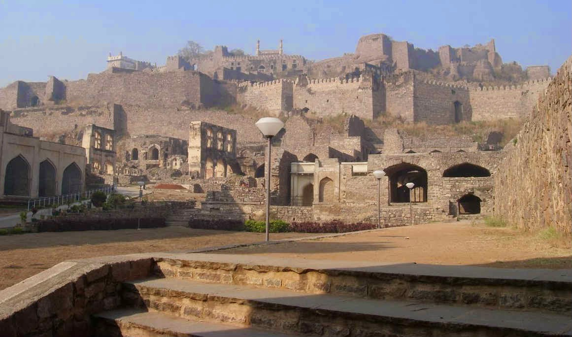 A beautiful view of Golconda Fort
