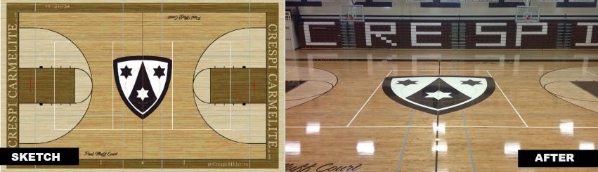 Crespi Carmelite High School Los Angeles, Gym Flooring