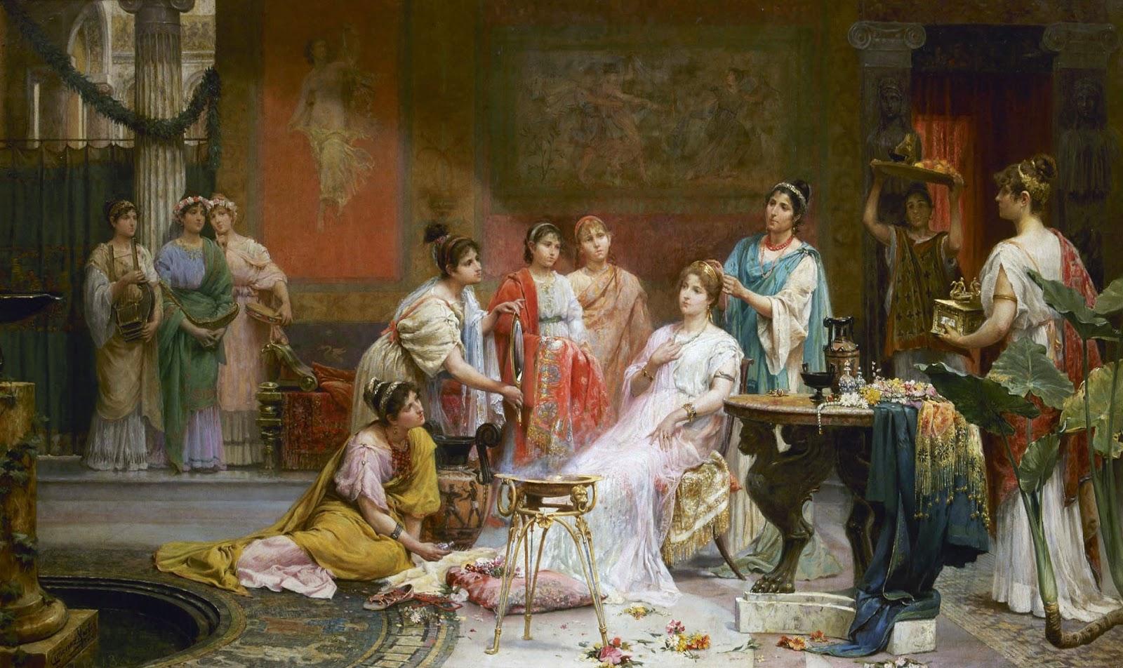 Baños Roma Obra De Teatro:Cuidados estilisticos de una mujer romana de clase alta