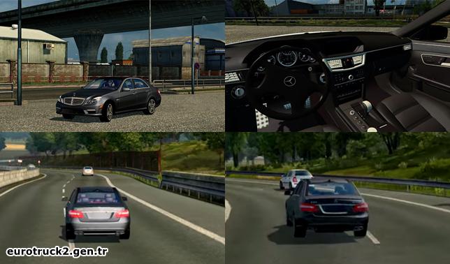 ets 2 mercedes e63 araba modu | euro truck simulator 2 | ets 2