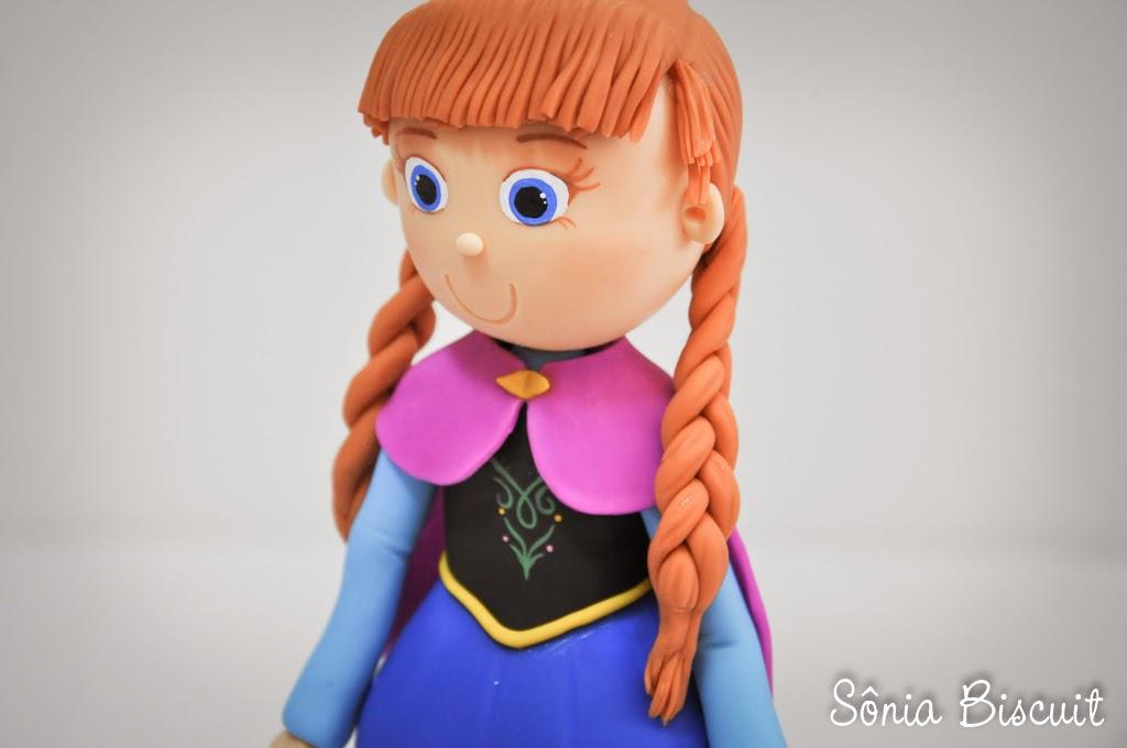 Topo de Bolo Elsa Anna Frozen Biscuit