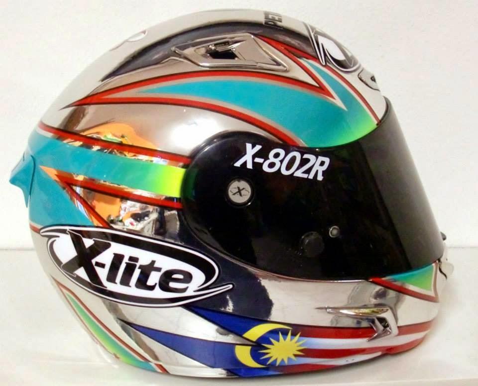 racing helmets garage x lite x 802r h syahrin 2014 by mrd. Black Bedroom Furniture Sets. Home Design Ideas