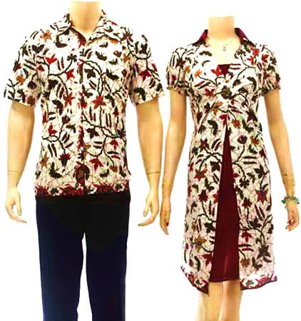 baju batik sarimbit couple pasangan muslim modern online