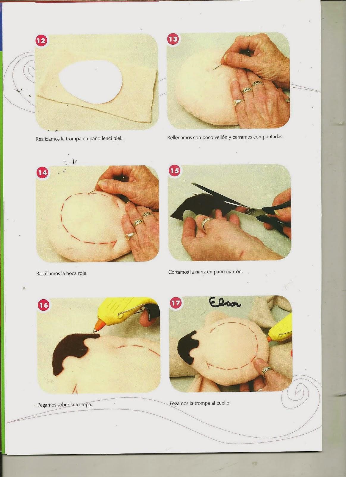 Como hacer mu ecos y juguetes en tela paso a paso - Manualidades en tela paso a paso ...