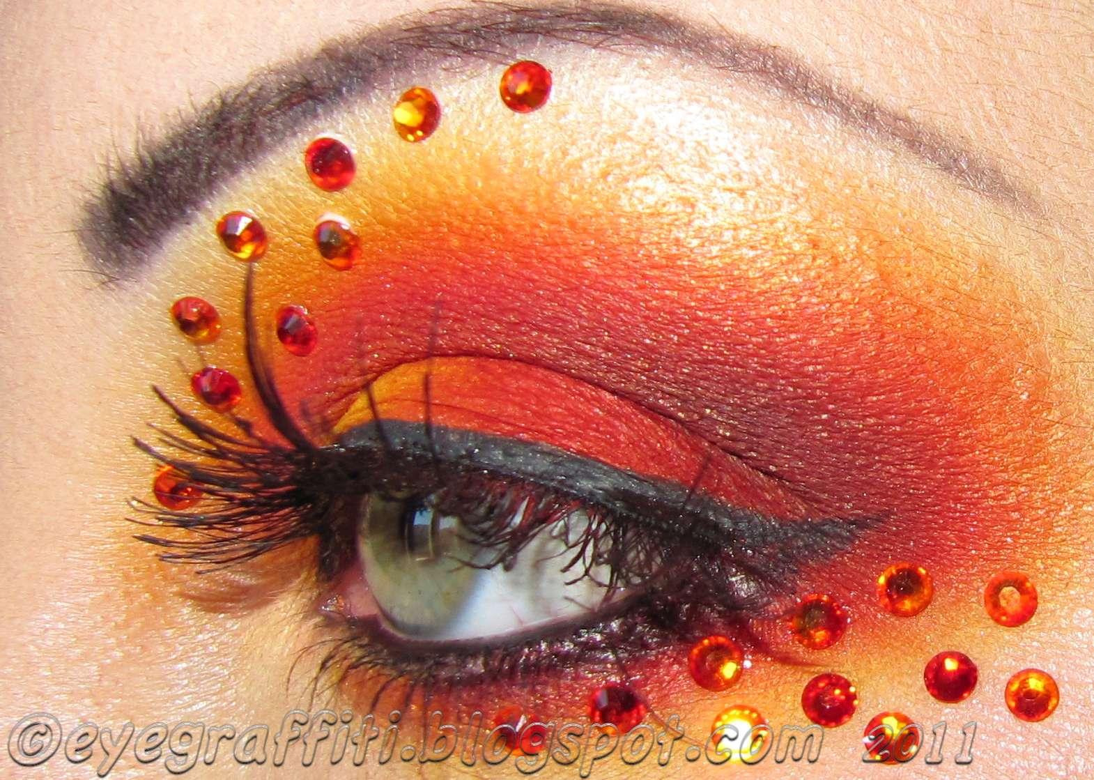Makeup Ideas fire makeup : Fire Eye Makeup Eyegraffiti: in flames!!