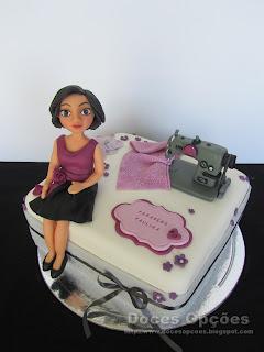 bolo aniversário maquina costura