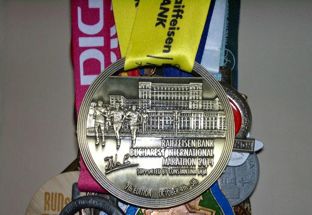 Maraton Internaţional Bucureşti 2014. Remediul împotriva răcelii. Medalie