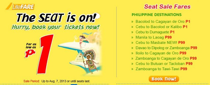 Cebu Pacific: The SEAT is on P1