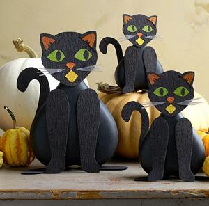 Gato para halloween animacion sociocultural e for Decoracion halloween manualidades