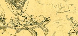 """Manuel Gustavo Bordalo Pinheiro, """"Balões dirigiveis,"""" Pontos nos ii (September 27, 1888)"""