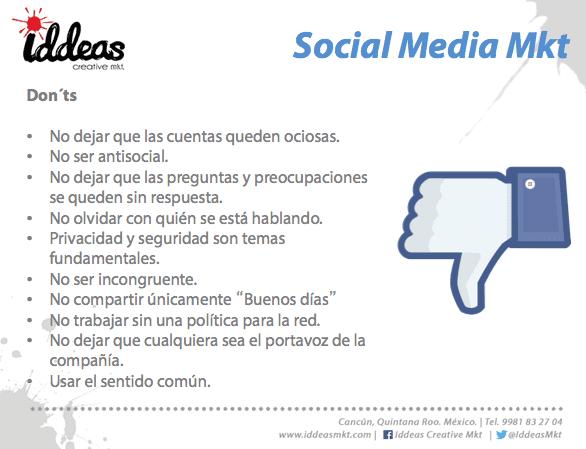 Lo que NO debes hacer social media marketing