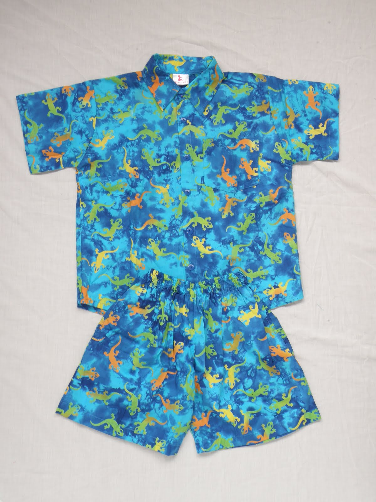 Frangipani Funky Matching Shirt And Shorts For The Little