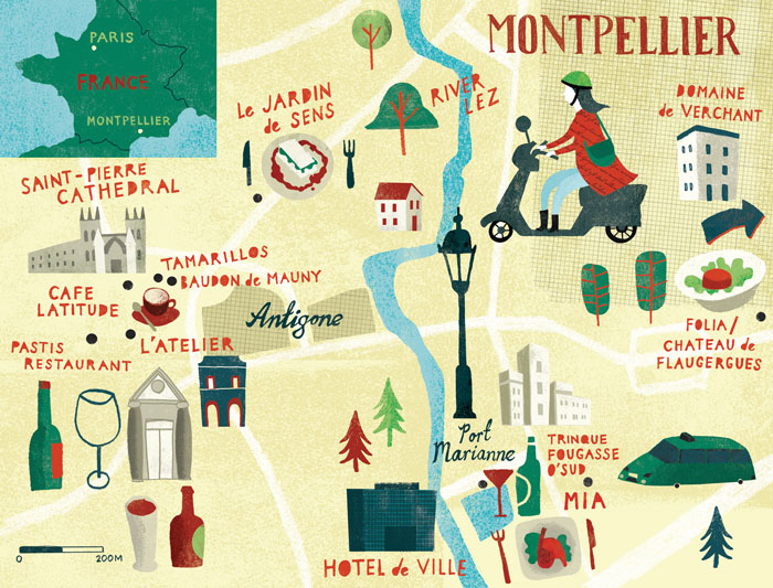 Montpellier map