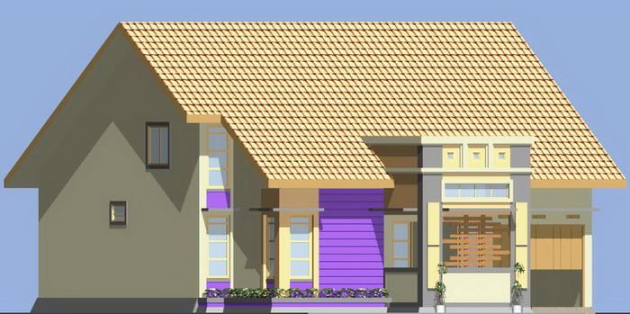 rumahku 1 warna warna cat rumah minimalis type 152