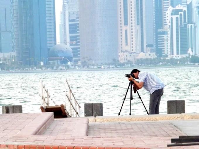 Capture photo at corniche doha