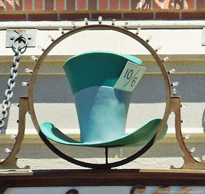 Mad Hatter Shop Disneyland Main Street sign entry shopfront