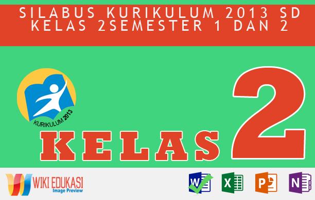 Silabus Integrasi KURIKULUM 2013 SD KELAS 2
