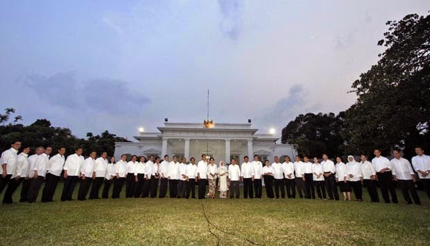 Nama nama susunan kabinet kerja jokowi JK 2014-2019