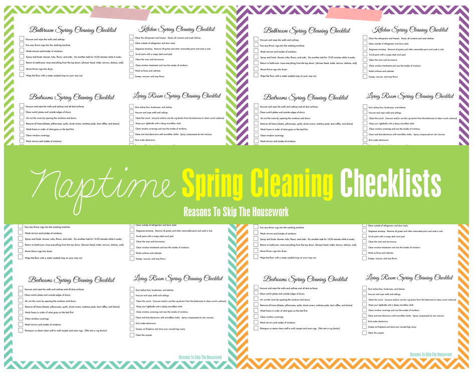 Spring Cleaning Checklist Printable Driverlayer Search