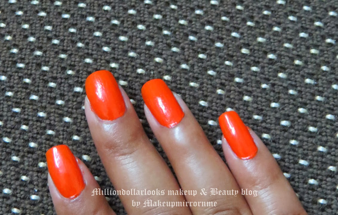 Bourjois Vacances a Hawaii vernis a ongles Nail enamel shade 68, Orange color nailpolish, Summer nail trends,Bourjois Vacances a Hawaii vernis a ongles Nail enamel shade 68 review, Picture and NOTD, Indian makeup and beauty blog, Nail polish review, Nailart blog India, BEAUTY BLOGGER