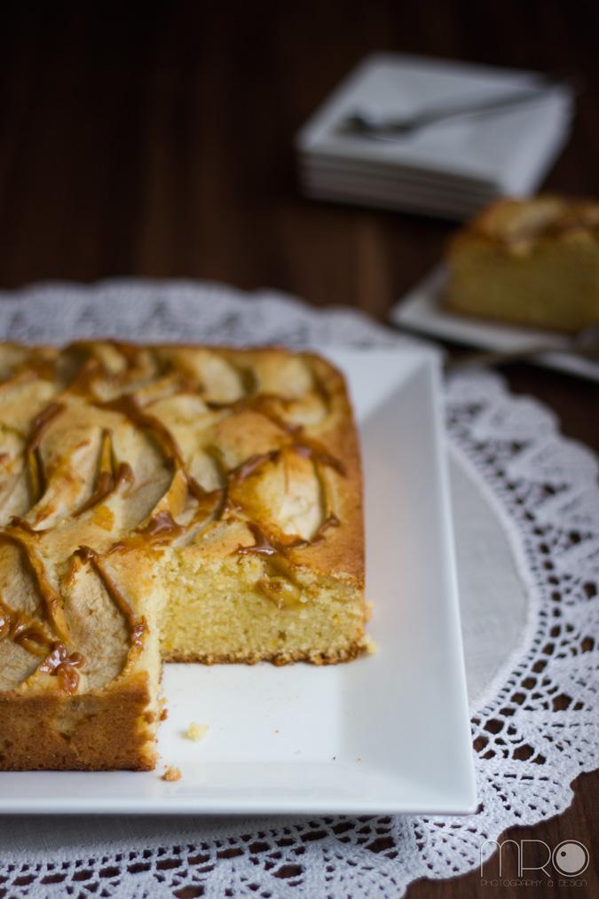 Pastel de manzana, Cocinando espero