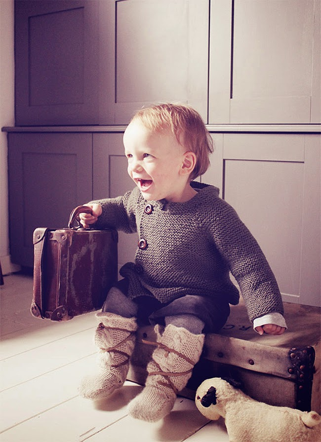 Scandinavian style knitwear for babies by Hambro & Miller for autumn 2014