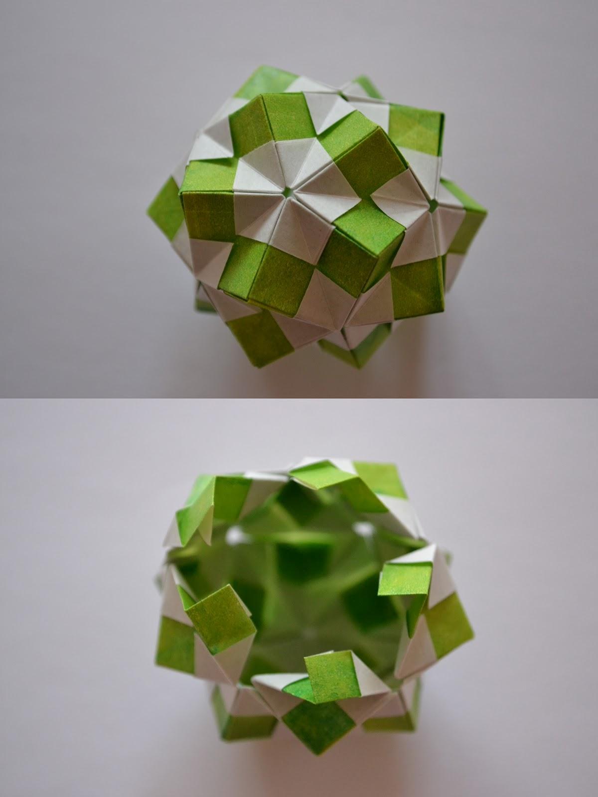 Lets Make Origami: Tutorial kusudama spring