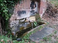 La Font de la Serra rajant pels tres brocs