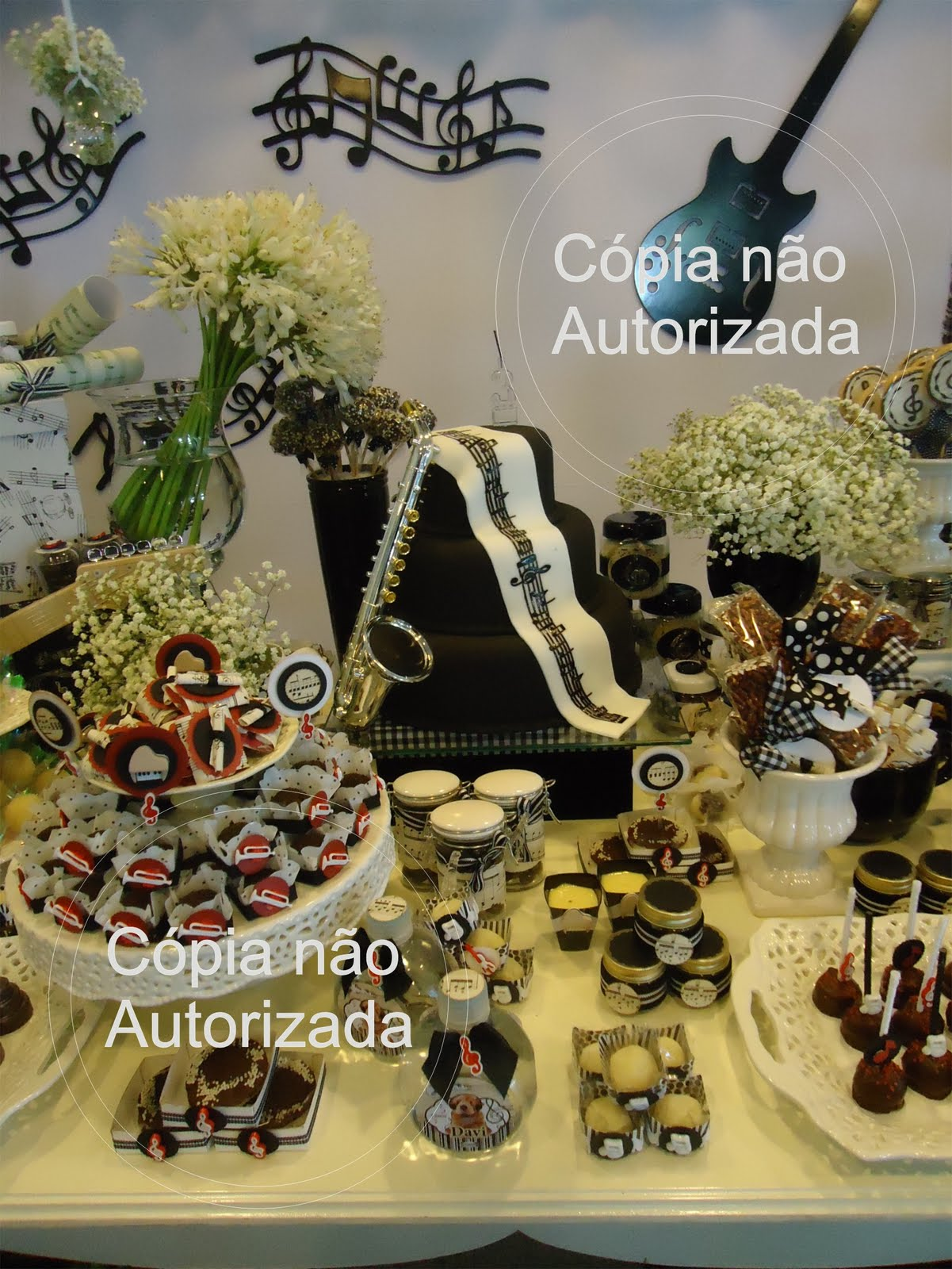Decoracao Para Festa De Debutantes Tema Notas Musicais Real Madrid