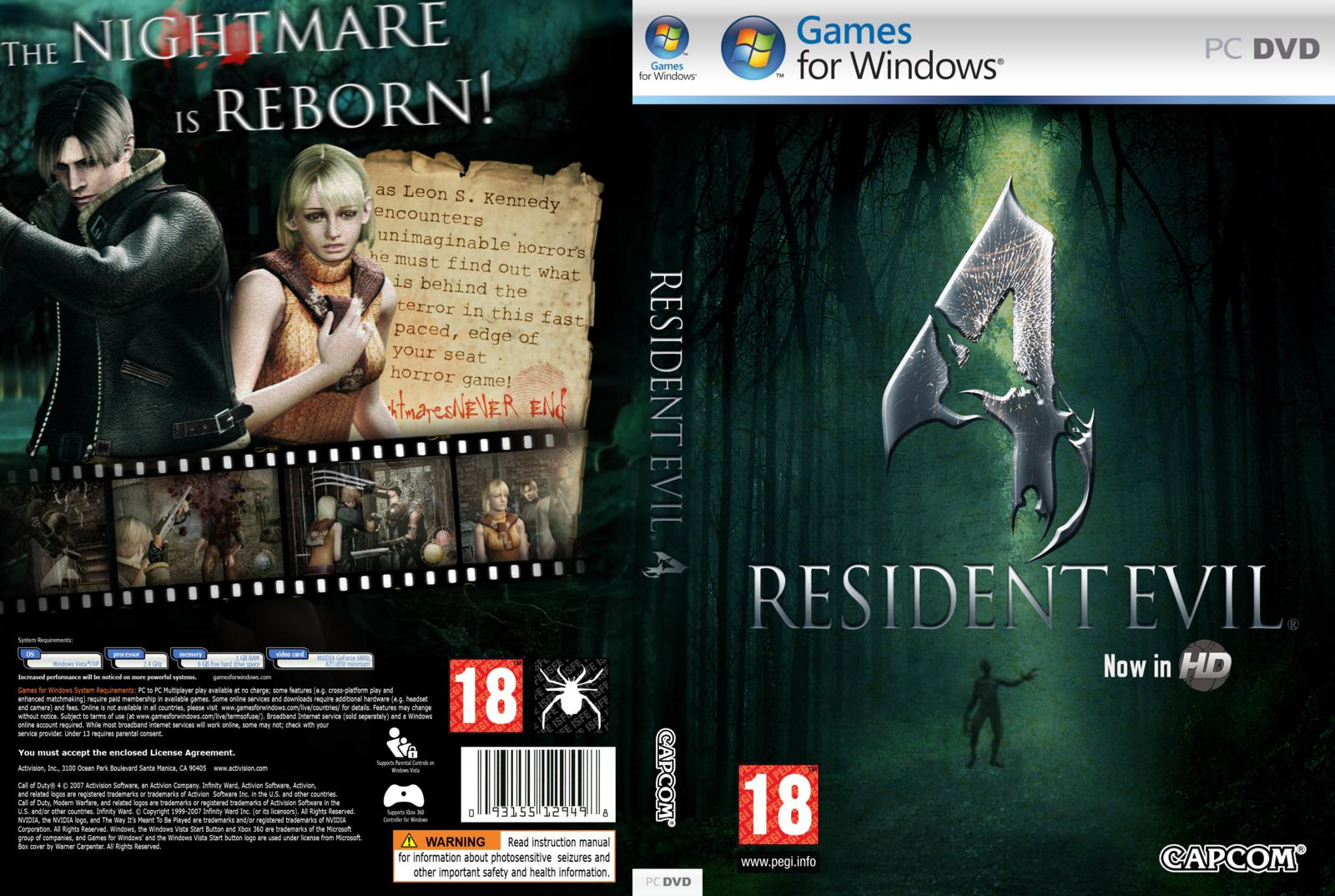 Capa Resident Evil 4 Now In HD PC
