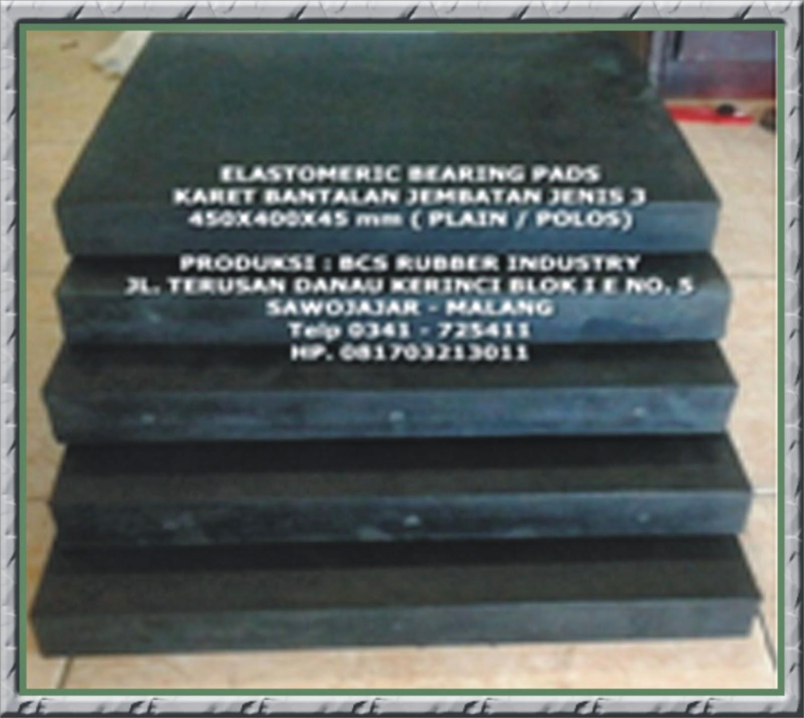 Elastomer Bearing Pads - Standart PU,Bantalan Jembatan,Karet Bantalan Jembatan.Elastomeric Bearing Pads