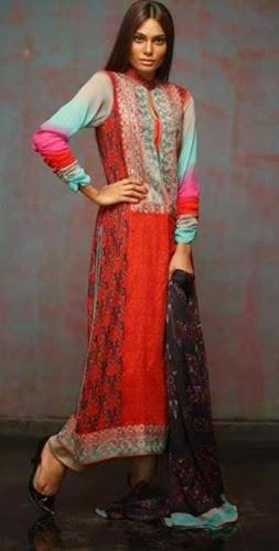 Feminine Eid Dresses 2014
