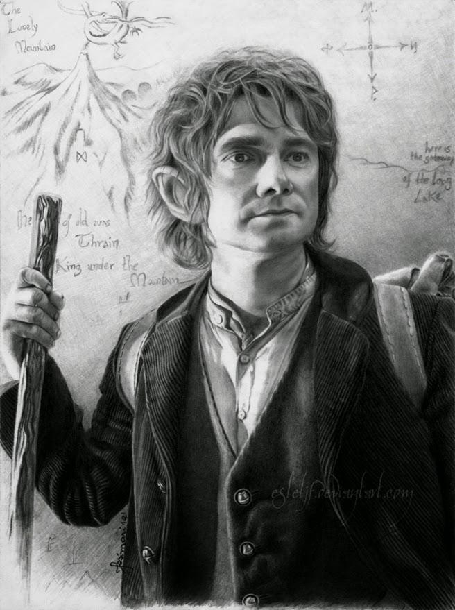 03-Bilbo-Baggins-Martin-Freeman-Josi-Fabri-Esteljf-The Hobbit-LotR-www-designstack-co