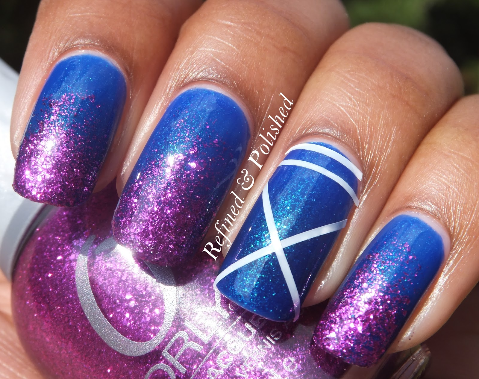 X Out Nail Art Project - Refined and Polished