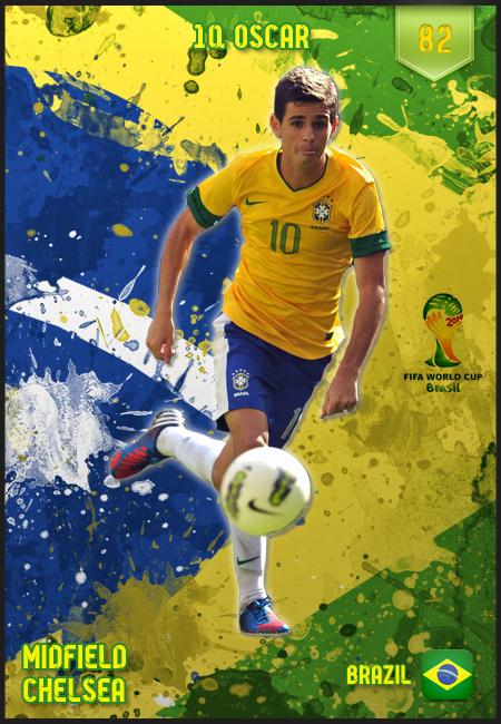 Oscar Brazil 2014 World Cup Brazil FIFA Wor...