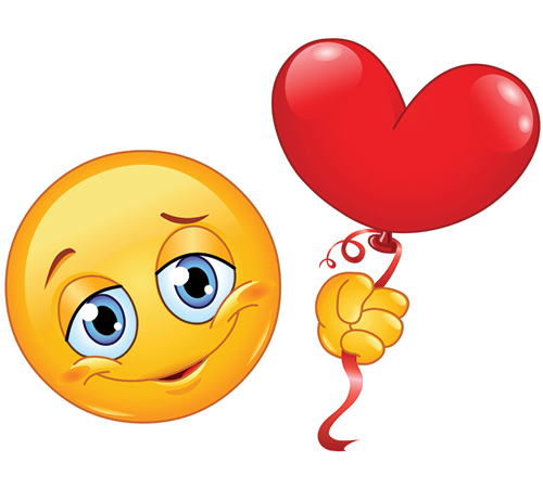 Heart balloon smiley