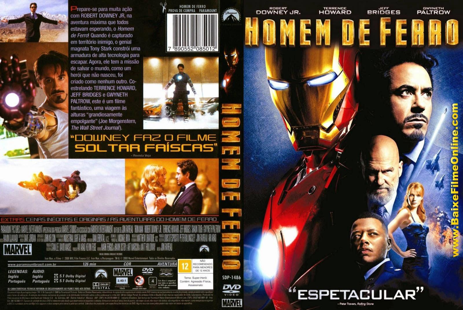 Torrent - Homem de Ferro Blu-ray rip 720p e 1080p Dual Áudio 5.1 (2008)