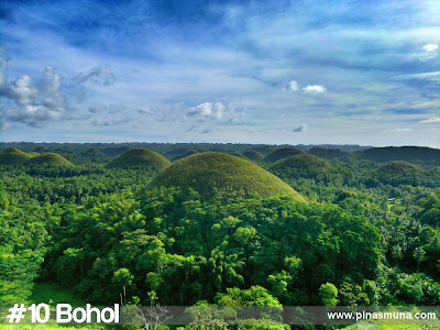 Bohol is the tenth largest island in the Philippines
