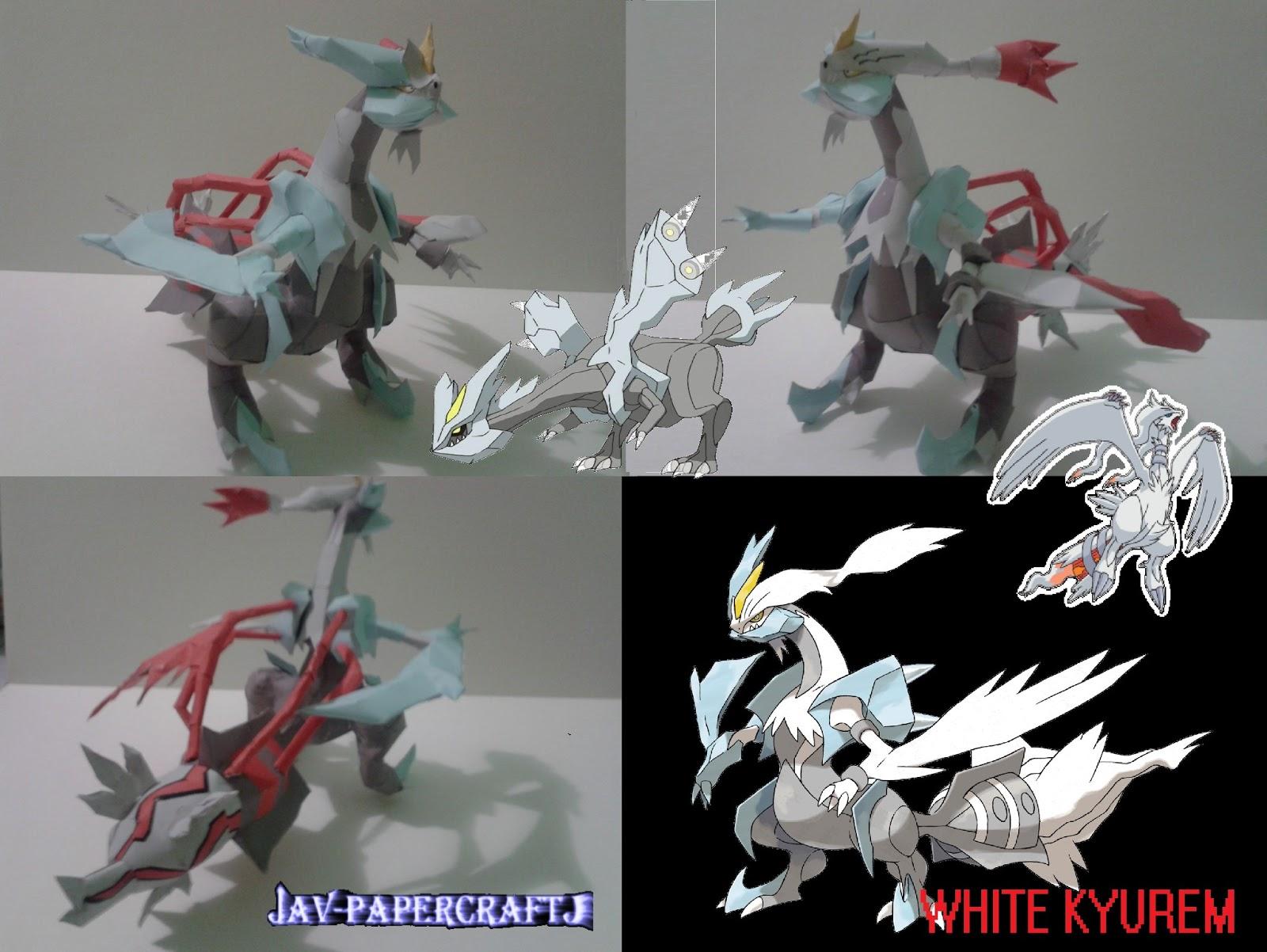 White Kyurem Paper Model