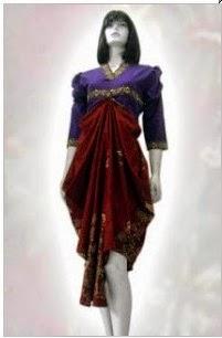 batik pesta modern elegan