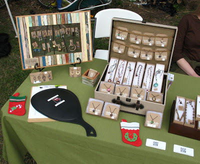 Libellula Jewelry and Cicada Silver Market Table Set-up
