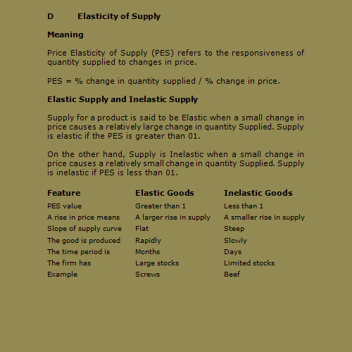 an explanatory article on the price elasticity of supply and demand Like price elasticity of demand, price elasticity of supply is also dependent on many factors some of these factors are within the control of the organization whereas others may be beyond their control regardless of the control, if the management has knowledge about these factors, it can manage.