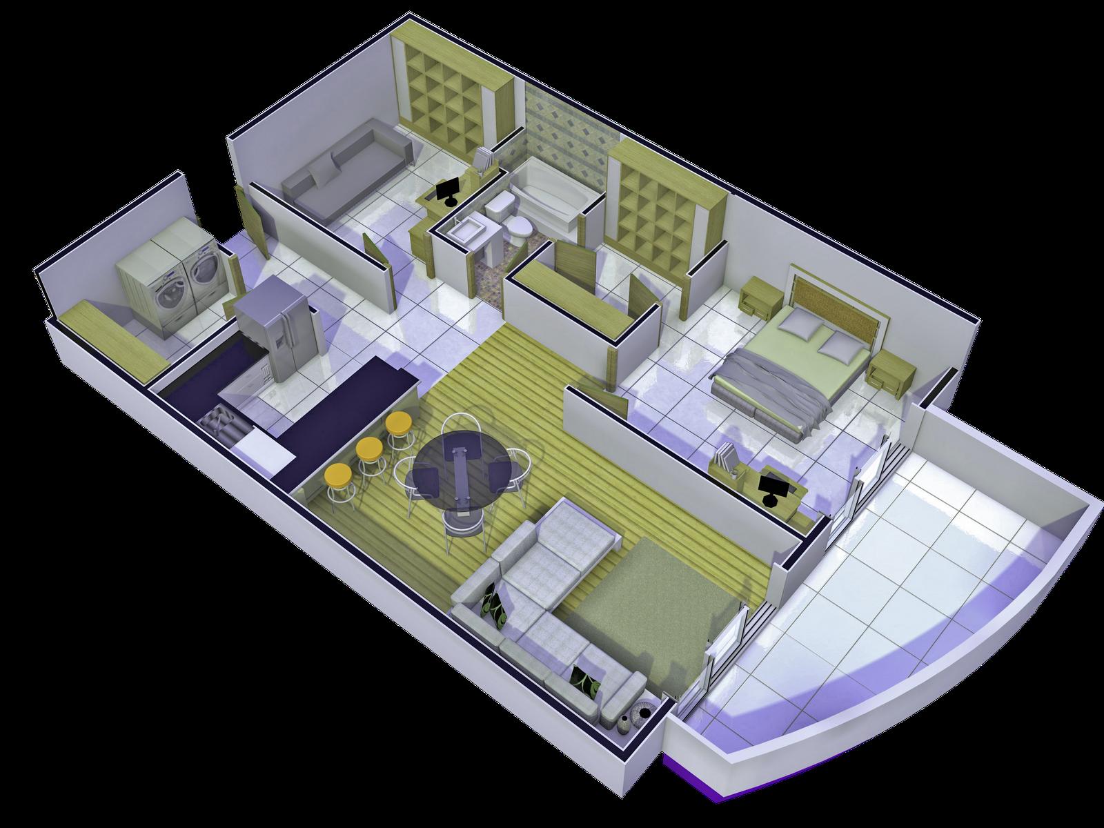 Modelos y rende 39 s torre fontana 1 b ideas for Apartamento modelo
